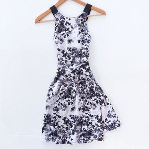 SO Jr. Black & Gray Floral Crisscross Back Dress